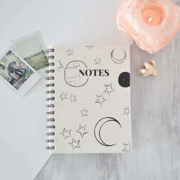 Moon and Stars Notebook decor